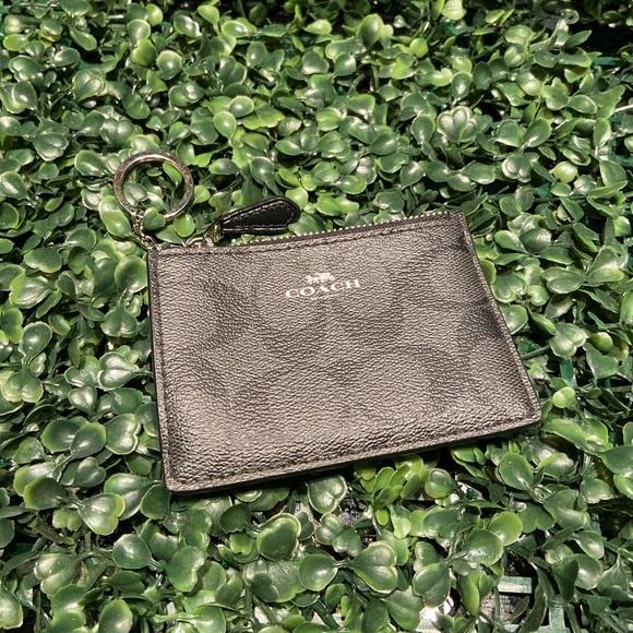 Coach print skinny keychain wallet with ID window